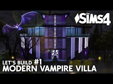 Die Sims 4 Modern Vampire Villa | Haus & Grundriss bauen #1 (deutsch)