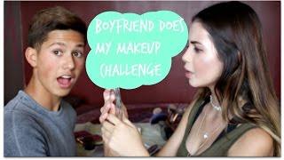 Boyfriend Does My Makeup Challenge | BeatsByLups