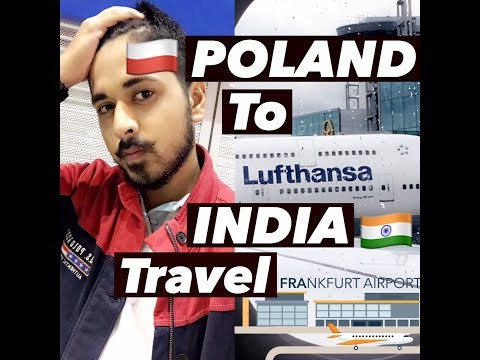TRAVEL POLAND to INDIA VLOG | LUFTHANSA AIRLINES REVIEW |