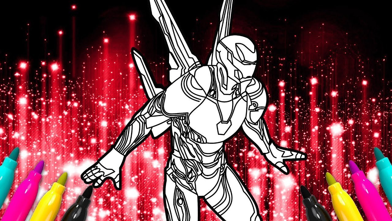 IRON MAN Infinity War New Suit Coloring Page Bleeding Edge Armor