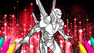 IRON MAN Infinity War New Suit Coloring Page | Bleeding Edge Armor