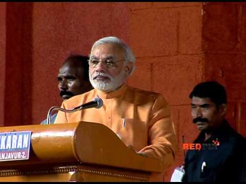 Narendra Modi  Speech  @ Trichy Part -- I -- Red Pix