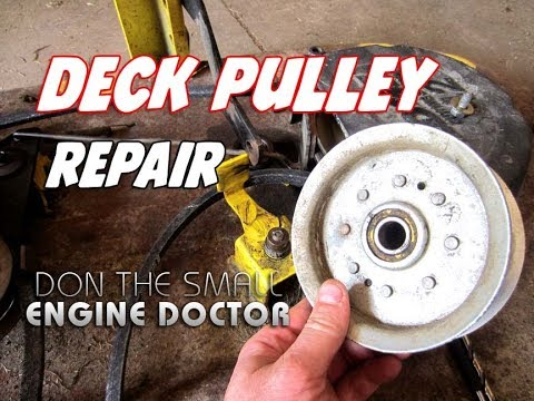 john-deere-lawn-tractor-deck-pulley-repair
