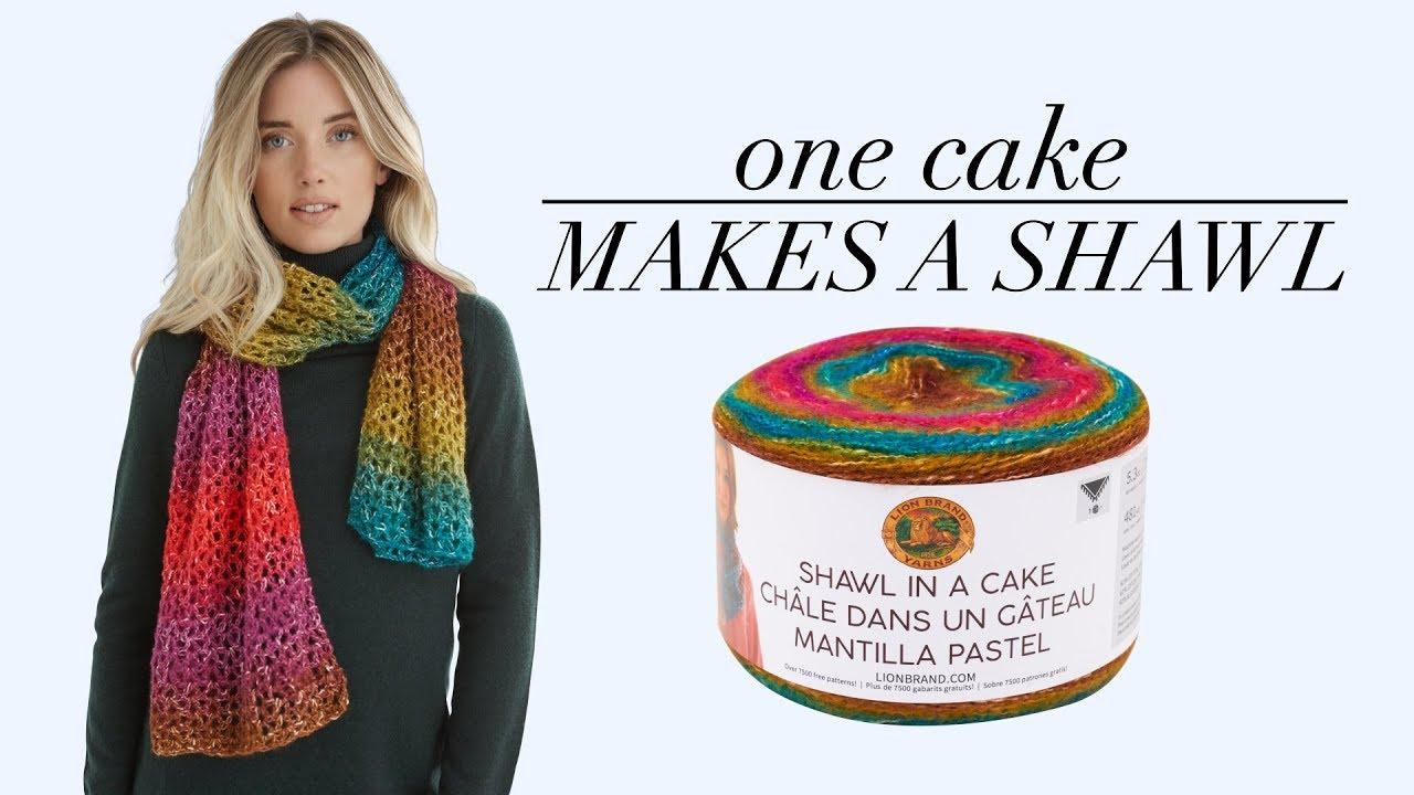 Lion Brand Shawl In A Cake Yarn-wind Chimes Metallic