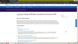 Fin de support Windows 7 en 2020 !! / Conseil