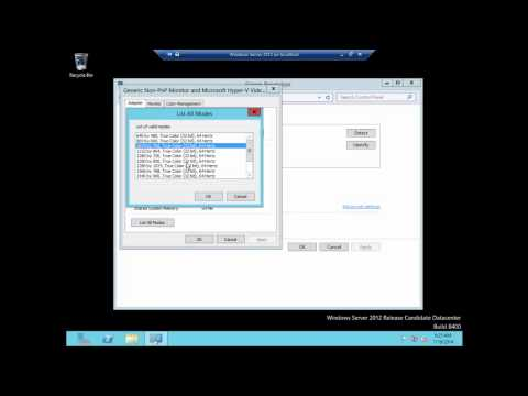 Configuring FULL screen resolution in a Hyper-V Client