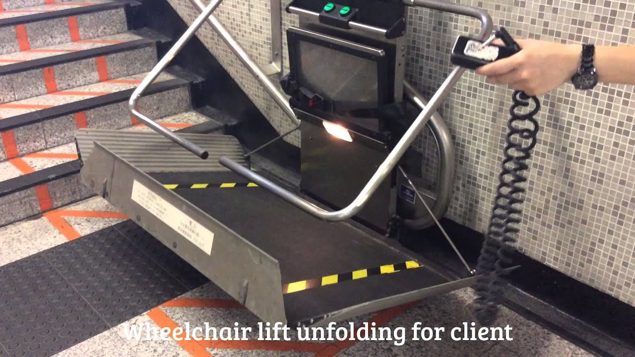 wheelchair up stairs ikea office chair climbing handicapped access in mtr