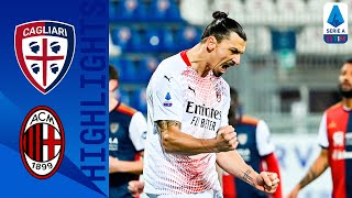 Cagliari 0-2 Milan | Ibrahimovic At The Double To Keep Milan Top! | Serie A TIM