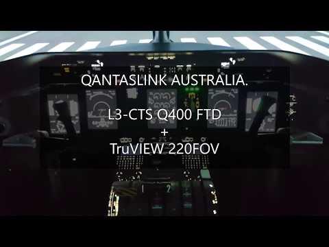 QANTAS Link Dash8-Q400 220FOV Visual System