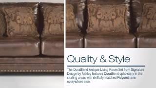 Durablend Antique Living Room Set - Colemanfurniture.com