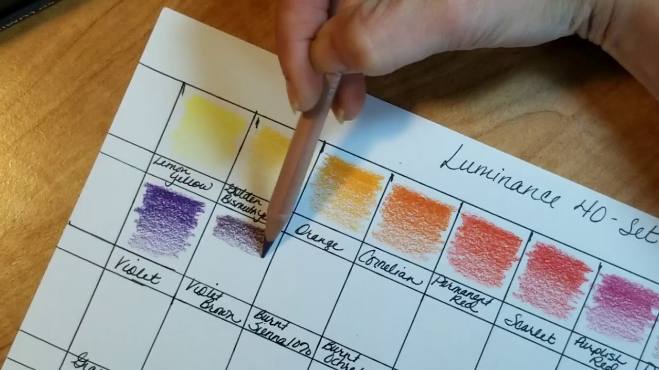 Swatching Luminance Colored Pencils Chatting My First Impression