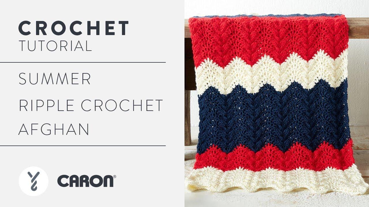 How to Crochet the Summer Ripple Crochet Afghan - YouTube