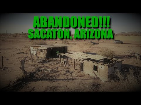 EXPLORING TWO ABANDONED BUILDINGS IN SACATON, ARIZONA - DRONE (