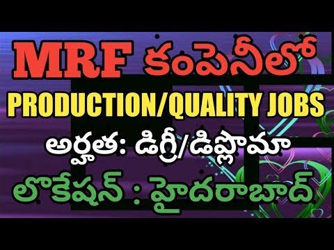 PHARMA NEWS #405    MRF Company Production Quality Jobs 2019