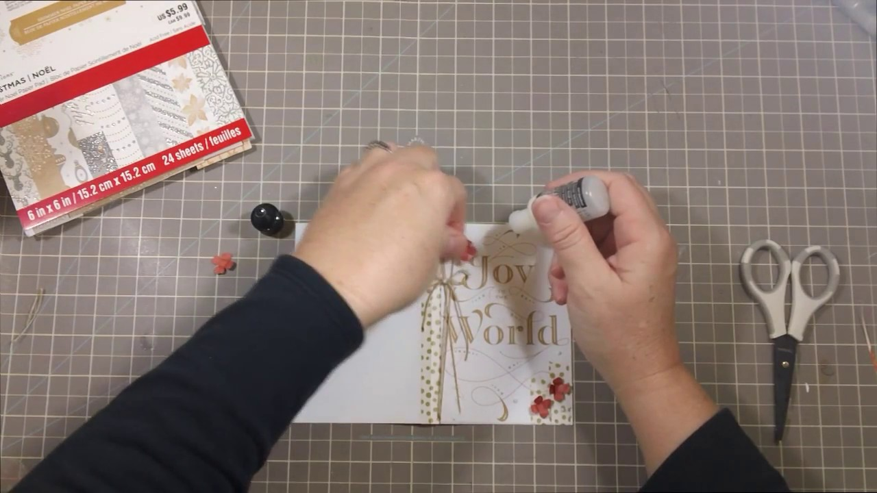 Making A Christmas Card Using Michaels Recollections Scrapbook
