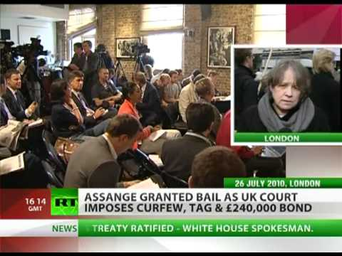 Julian Assange gets e-tag, curfew and £240,000 bond on bail