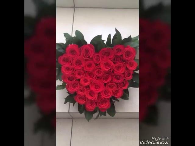 Сердце из цветов