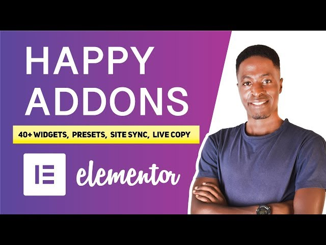 Happy Addons for Elementor (400+ Presets, 40+ Widgets, 500+ Line icons, Unlimited Section Nesting)