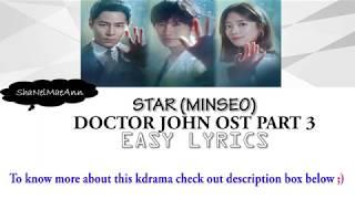 Star (Minseo)(Doctor John Ost Part 3) #OstEasyLyrics