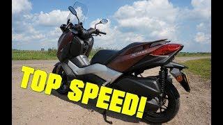 2017 Yamaha XMAX 300 TOP SPEED IN 4K!