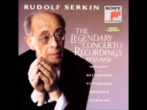 Schumann Piano Concerto in A-minor performed by Rudolf Serkin