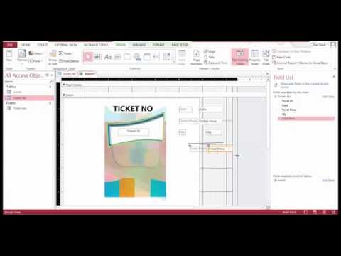 Create Events Ticket Production Database With MS ACCESS.