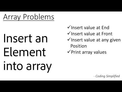 Data Structure-Array-1 : Insert an element into array