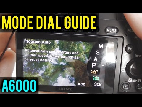 📷A6000: How to Disable Mode Dial Guide (Description Page)