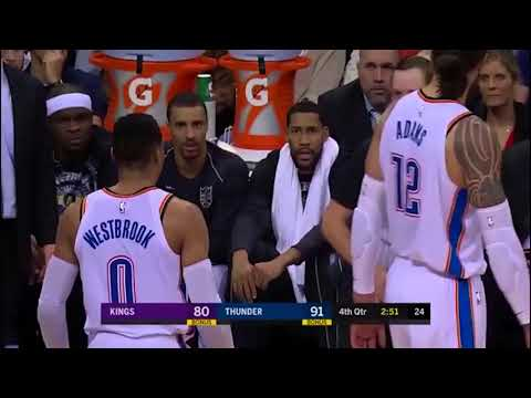 Russell Westbrook gets ejected - Oklahoma City Thunder vs. Sacramento Kings - 15/01/2018