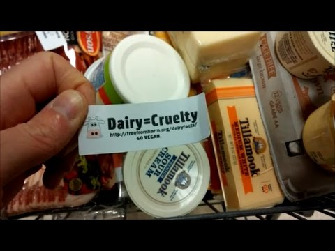 Easy Vegan Activism with Food Stickers