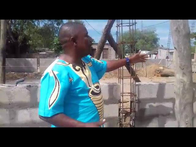Construção do espaço das crianças orfãs na África parte 03