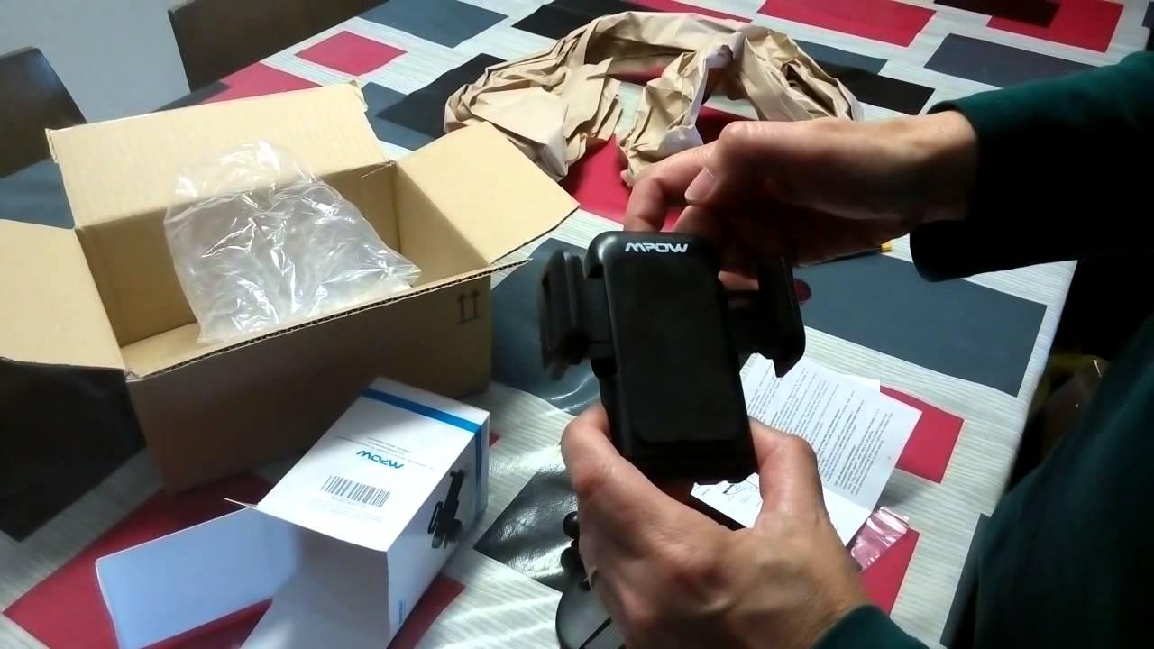 1ef642625c3 unboxing Mpow® Grip Pro 2 soporte de coche para movil - YouTube