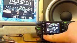 icom ic 7000 if dsp test