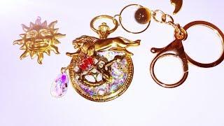 UVレジン セリアの歯車モールド使用『獅子座の懐中時計』作るよ (*´_⊃`)ノ  resin またゴム 検索動画 22
