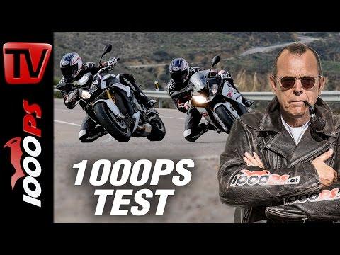 1000PS Test - BMW S 1000 R vs S 1000 RR 2017 | Supersport vs Nakedbike auf der Landstrasse