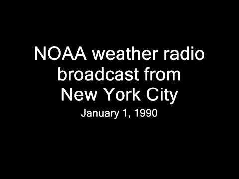 NOAA weather radio broadcast from New York City (Jan. 1, 1990)