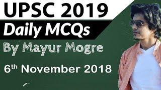 UPSC 2019 Preparation - 6 November 2018 Daily Current Affairs for UPSC / IAS 2019