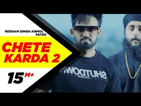 Chete Karda 2 (Full Song) | Resham Singh Anmol Feat Fateh | Latest Punjabi Song 2017 | Speed Records