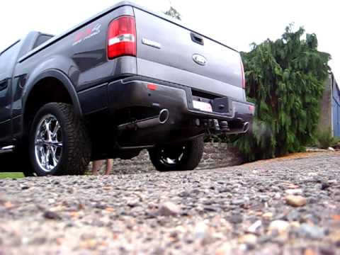 My F 150 Fx4 Cold Start With Roush Dual Rear Exhaust Offroad Youtube