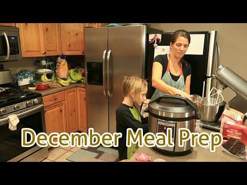 Large Family EASY December MEAL PREP