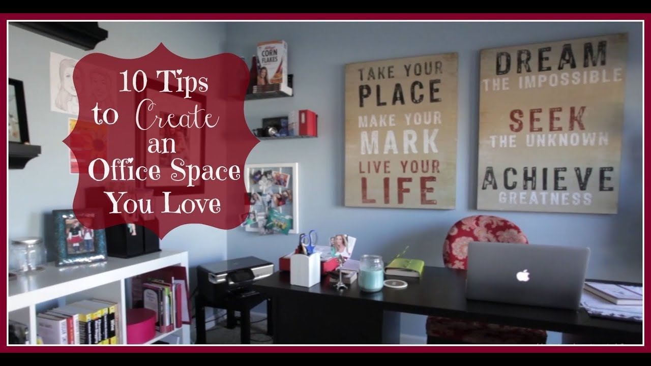 how to organize a home office 10 tips keeping style in your life youtube. Black Bedroom Furniture Sets. Home Design Ideas