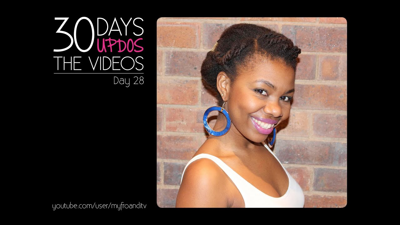 Videos Of Natural Hair Styles Glamorous Natural Hair Challenge  30 Days 30 Updos Day 28  African .