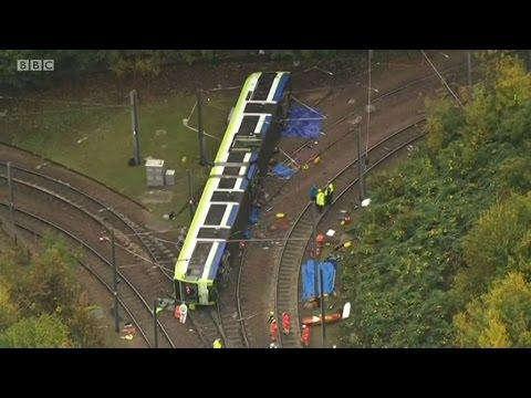 Croydon Tram Derailment: BBC London News Lunchtime 9.11.2016