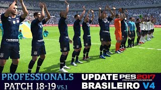 PROFESSIONALS PATCH 5.1 PES 2017 UPDATE BRASILEIRO V4 DOWNLOAD