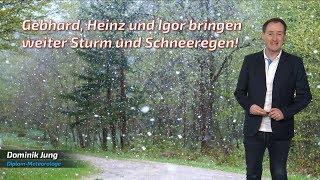 Gebhard Heinz Und  Gor Sind Mit Sturm Und Schneeregen Zu Besuch Mod. Dominik Jung