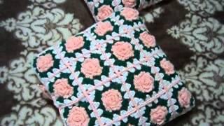 Вязаные чехлы на подушки.  Crochet Pillow Covers. עבודת יד(Много интересного по вязанию,в том числе мои работы,можно посмотреть- http://vyazanie-irinushka.blogspot.com/ http://leather-crochet-lilac...., 2014-01-14T13:28:15.000Z)