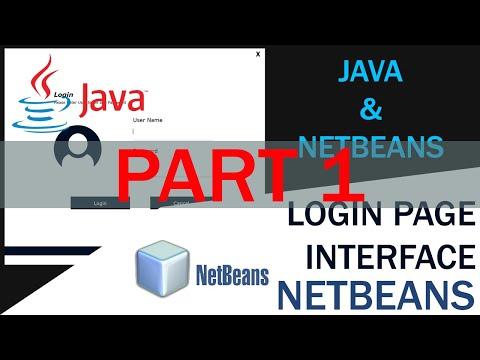 java- -netbeans- -login-interface-design-tutorial- -part-1