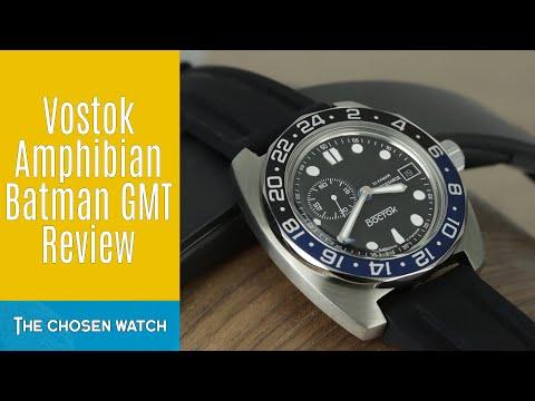 Vostok Amphibian Batman GMT Review (Ref 170863)