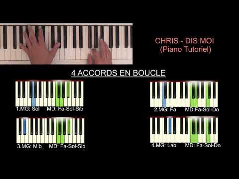 Chris - Damn, dis moi (piano cover tutoriel)