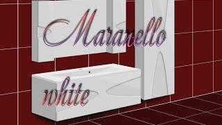 Обзор комплекта мебели в ванную комнату Maranella White
